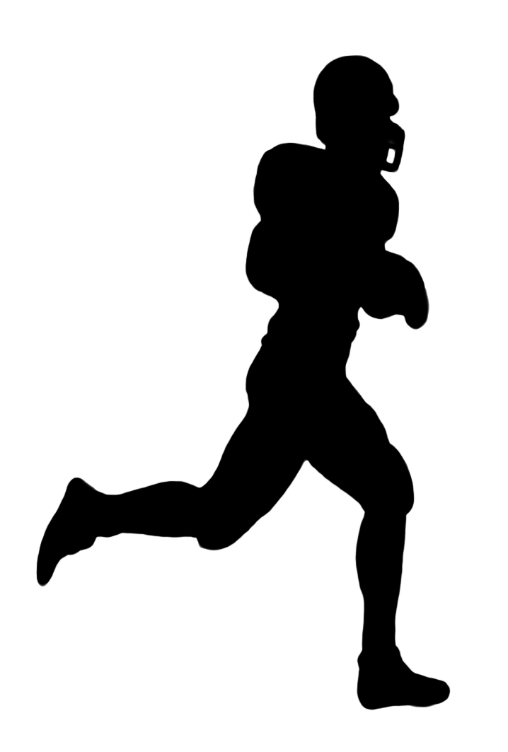 718x1063 Football Silhouette Clipart Panda