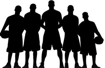 358x234 Football Team Clipart Silhouette