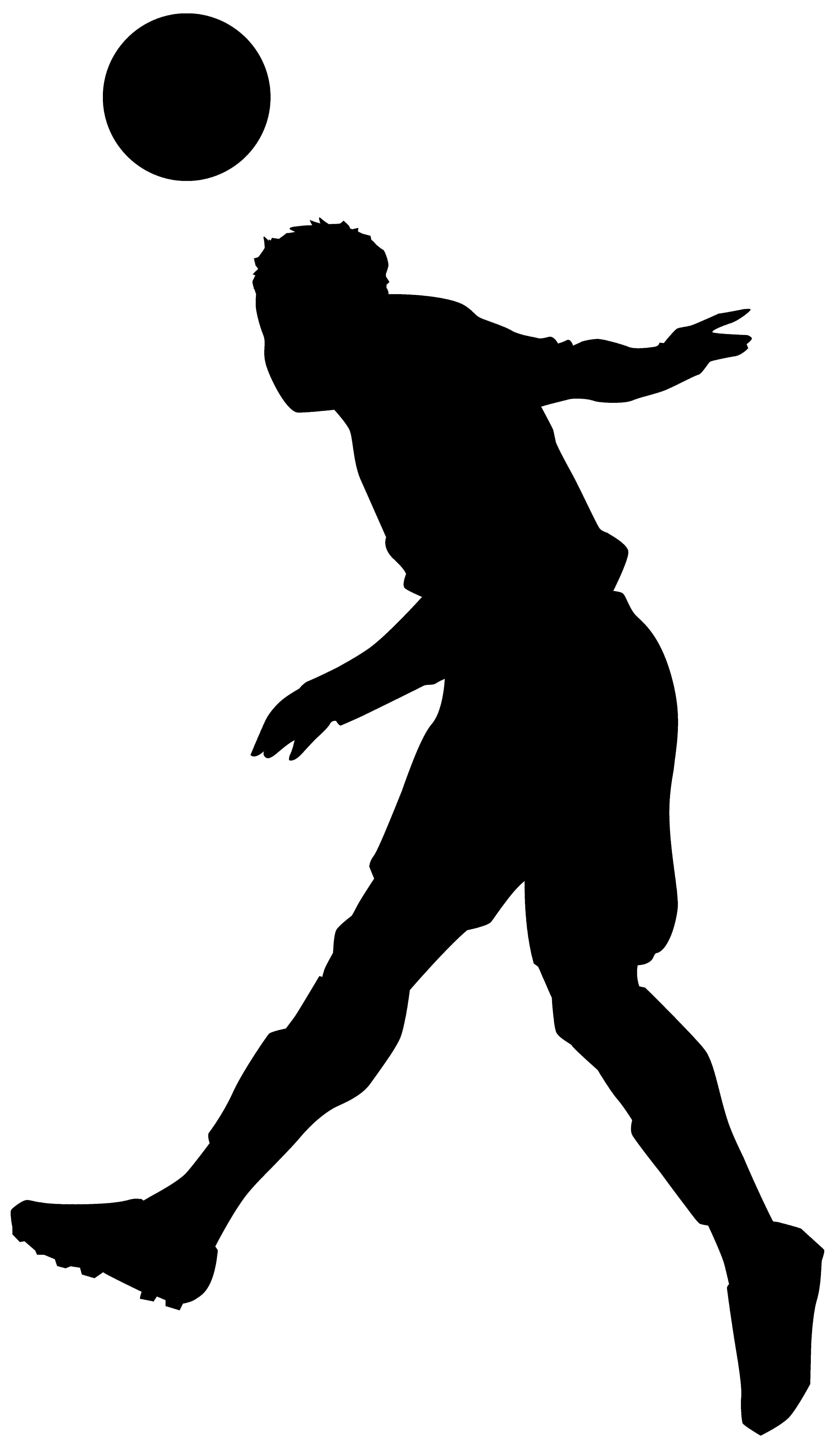 4638x8000 Adorable Football Players Silhouette