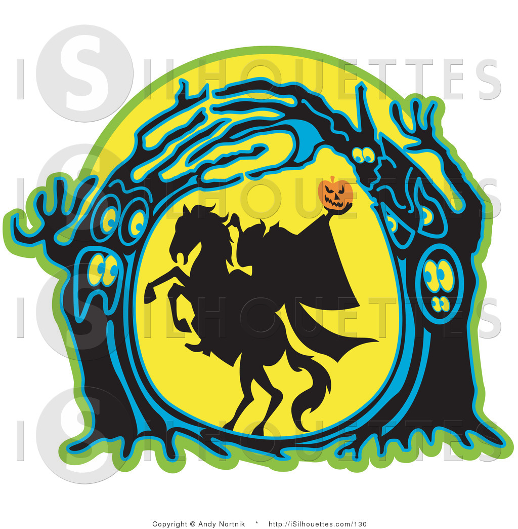 1024x1044 Silhouette Clipart Of A Silhouette Of The Headless Horseman