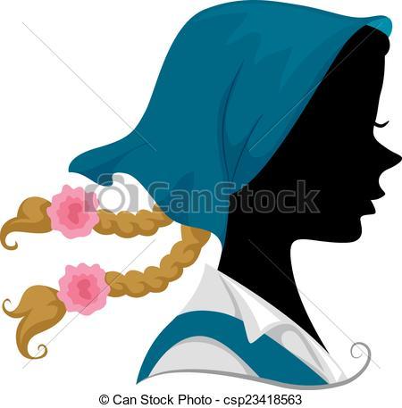 450x457 Austrian Girl Silhouette. Illustration Featuring The Clip Art
