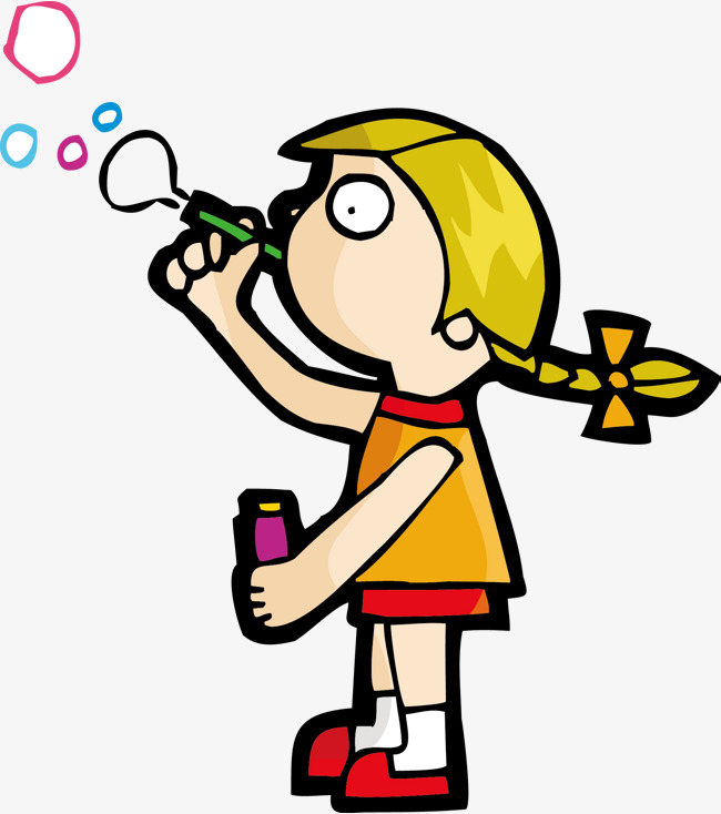 650x734 Bubble Girl, Vector, Blowing Bubbles, Play Png And Vector For Free