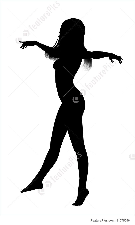 813x1360 Female Dancing Silhouette Illustration
