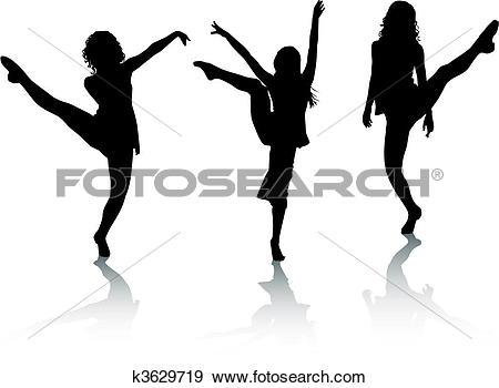 450x350 Girl Dancer Clipart Silhouette