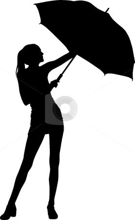 276x450 Silhouette Umbrella Girl Rain