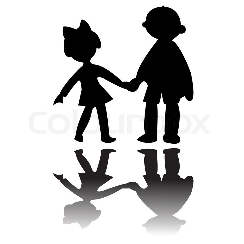 800x800 Boy And Girl Silhouettes, Art Illustration More Drawings In My