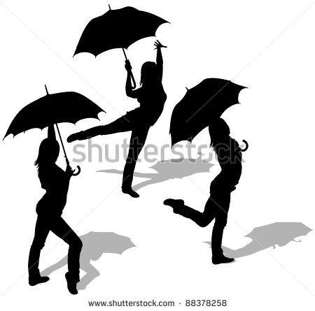450x445 Girl Dancing Under Umbrella