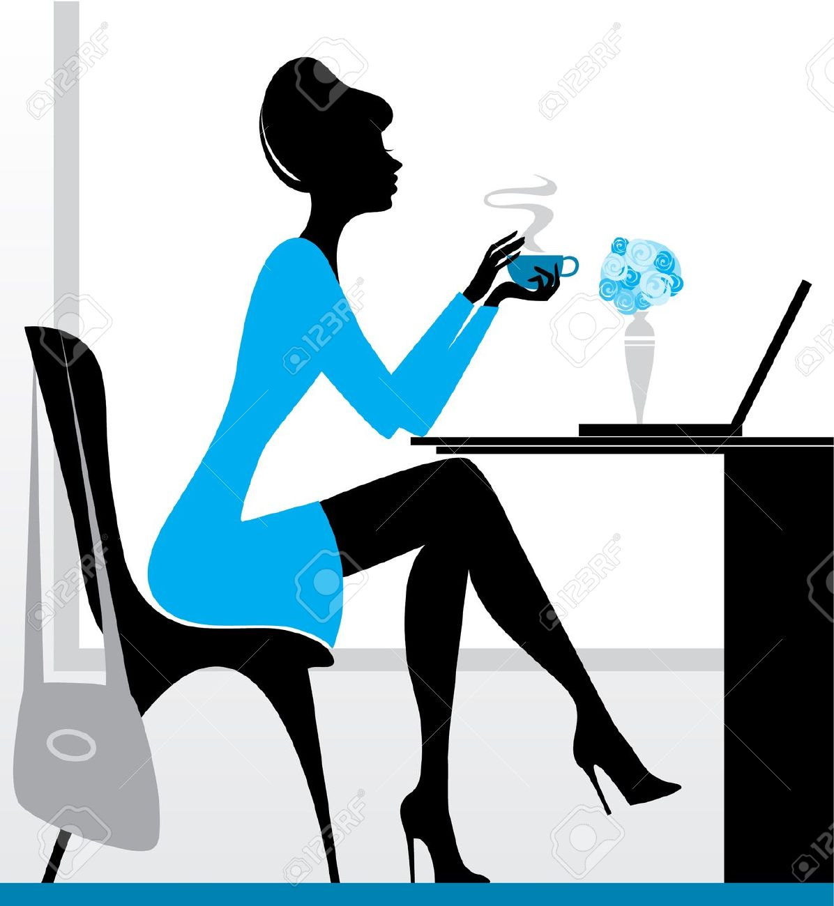 1196x1300 Coffee Clipart Woman