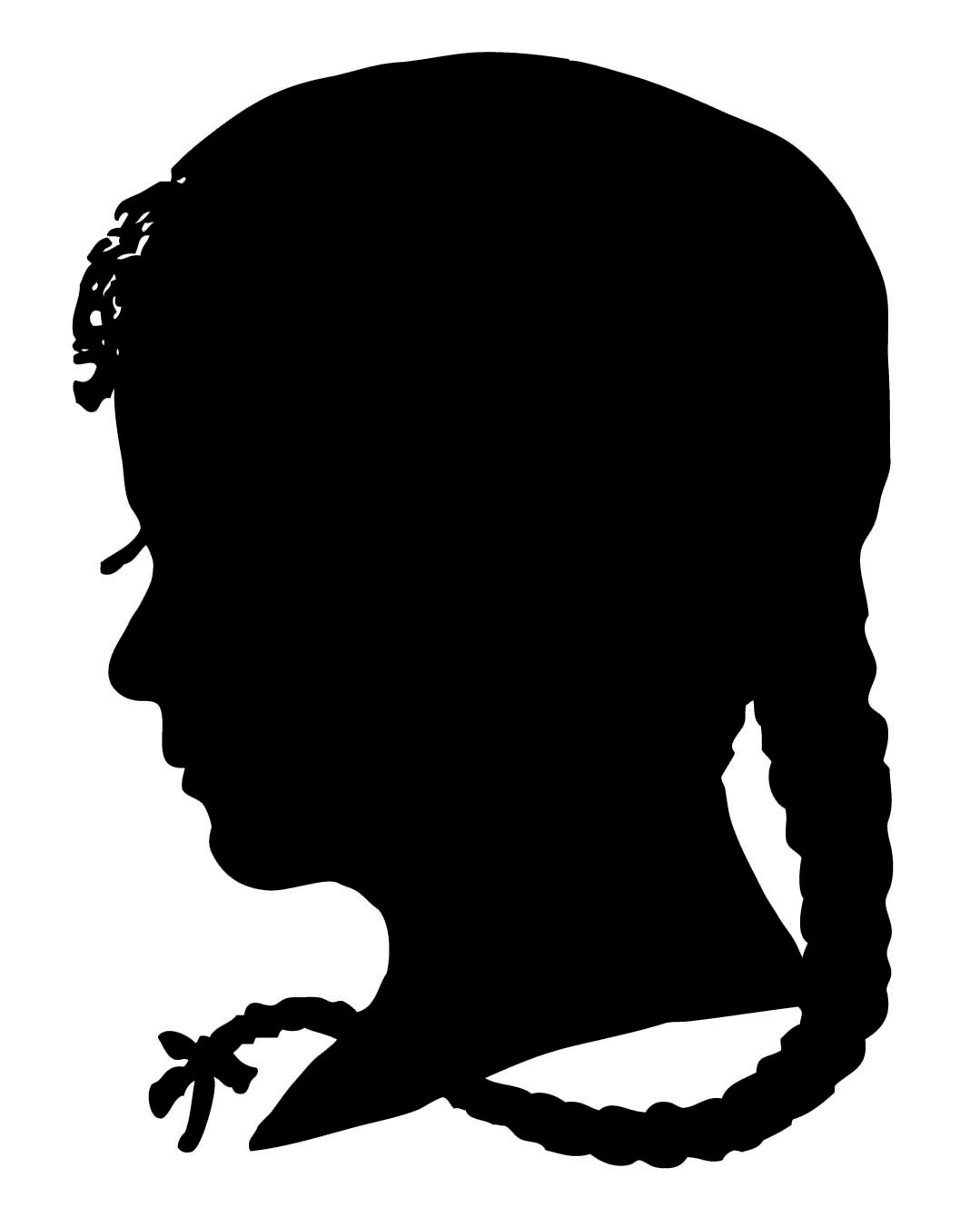 1079x1351 Girls Silhouette Clipart Collection