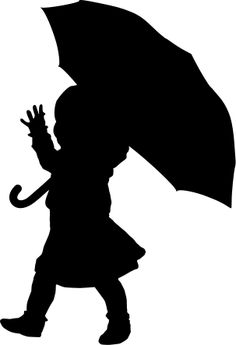 236x345 Clipart Little Girl Sitting With Umbrella Silhouette