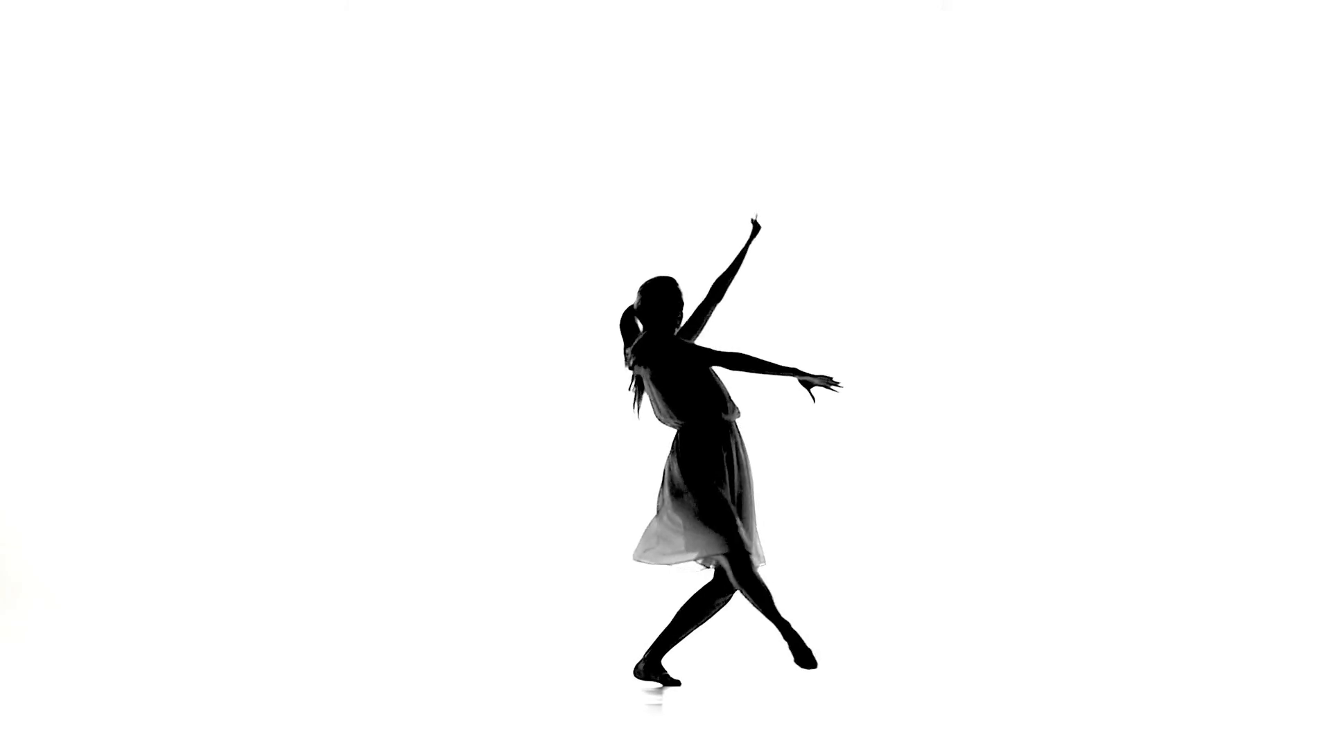 1920x1080 Slim Girl With Ponytail Dance Modern Contemporary Style Spins