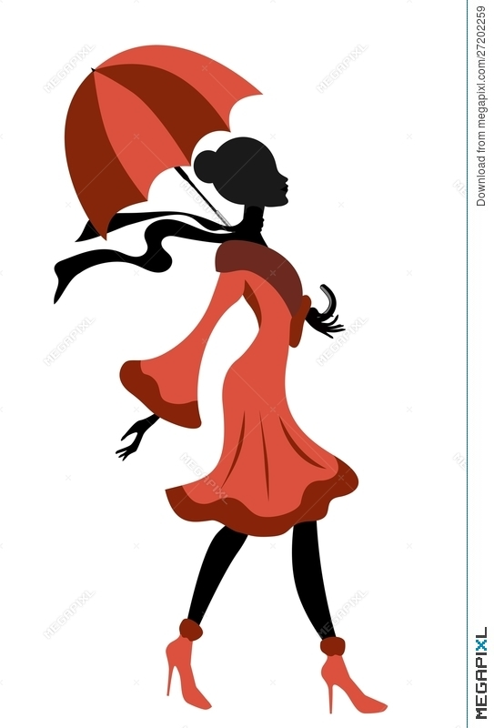 543x800 Umbrella Clipart Lady With Many Interesting Cliparts