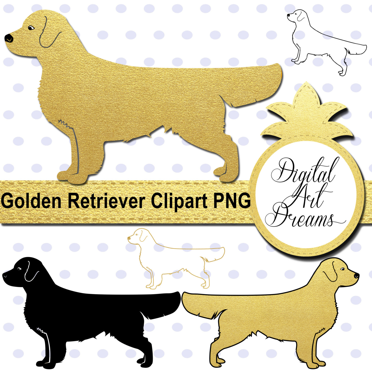 1500x1500 Golden Retriever Clipart Silhouette 3572871