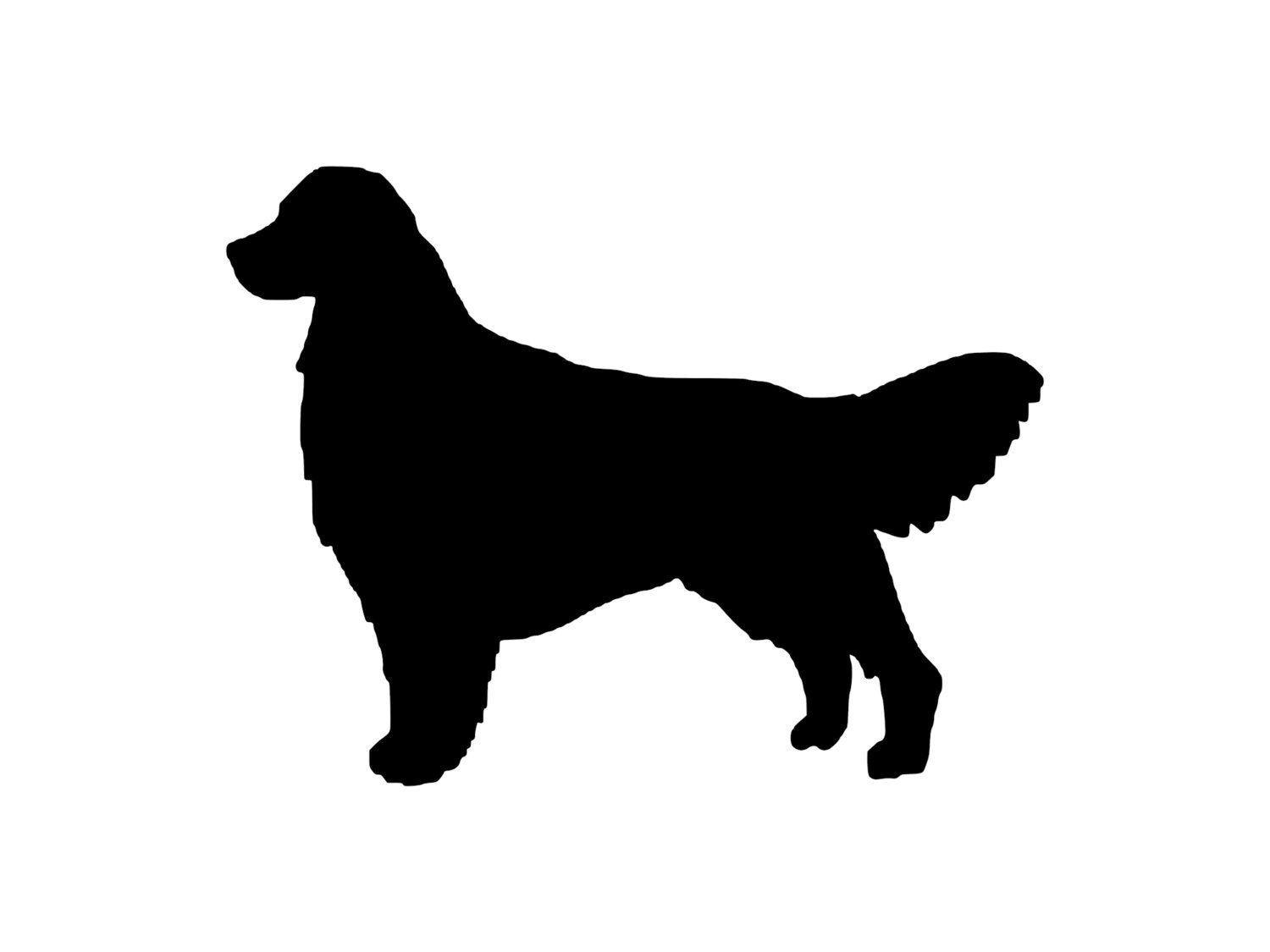 1500x1125 Golden Retriever Dog Outdoor Vinyl Silhouette, K9 Breed Adhesive