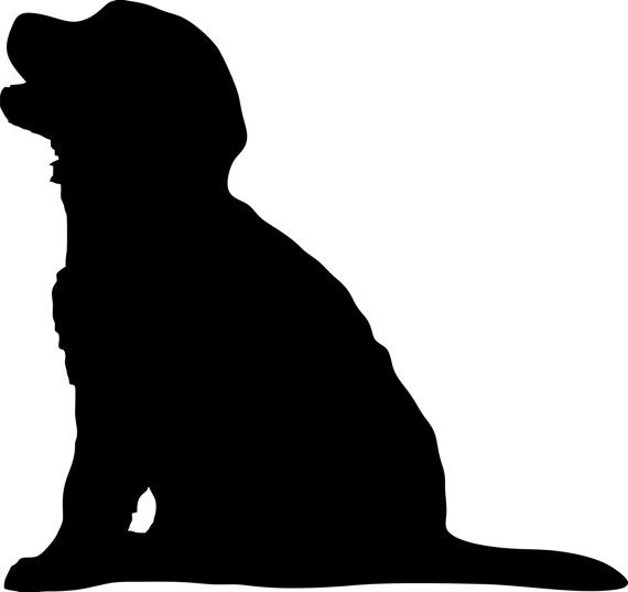570x537 Golden Retriever Puppy Dog Breed Silhouette Custom Die Cut Vinyl