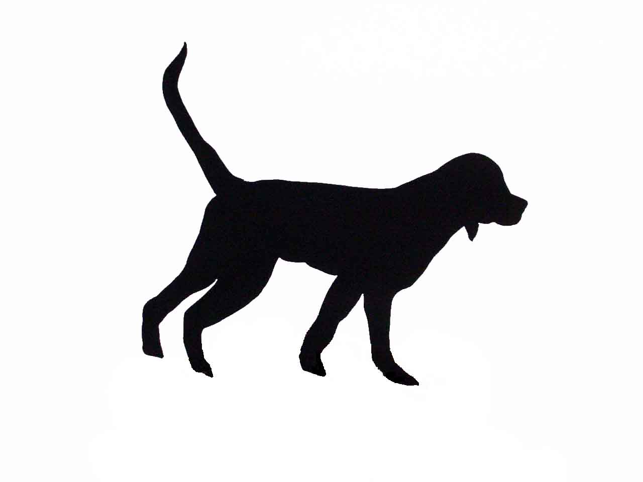 1280x960 Retriever Silhouette Vector