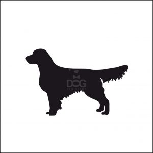 300x300 Flat Coated Retriever Silhouette Stickers