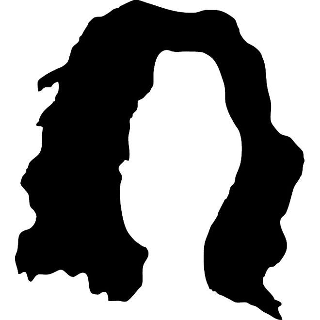 660x660 Hair Vector Silhouette