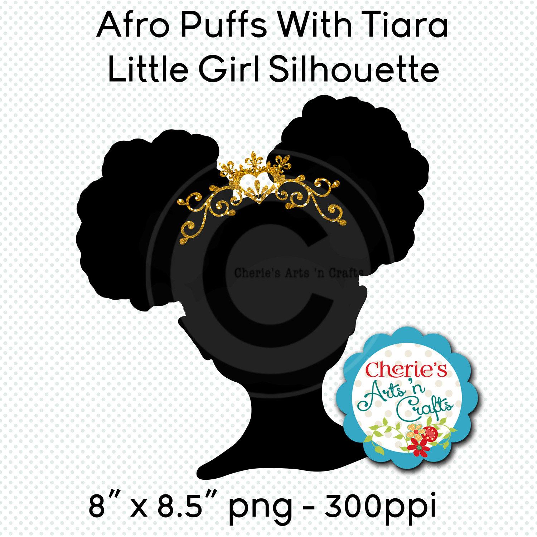 1500x1500 Little Girl Silhouette African Girl Silhouette Natural Hair
