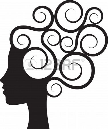 378x450 Silhouette Of Woman Stock Photo