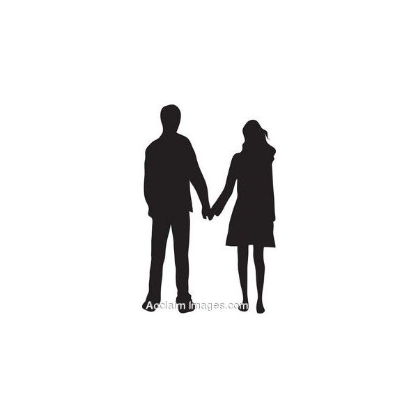 600x600 Couple Holding Hands Clipart Silhouette