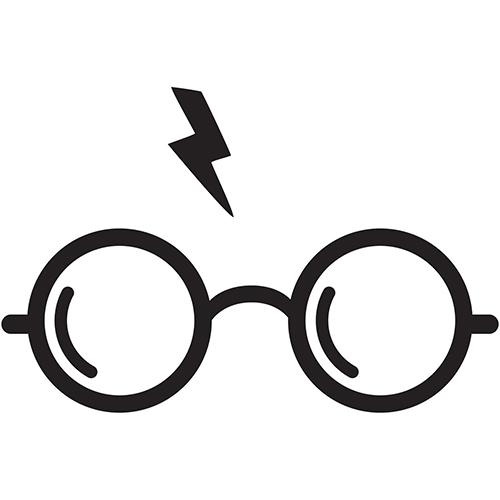 500x500 Harry Potter Glasses Die Cut Vinyl Decal Pv458 Harry Potter