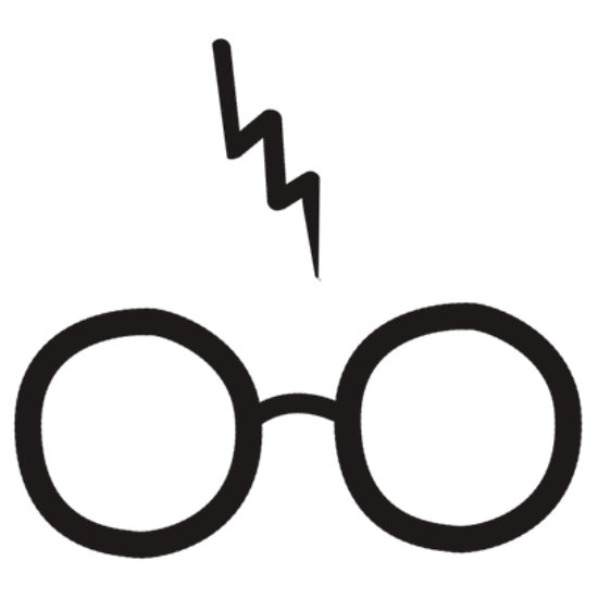 550x550 Harry Potter Glasses Clipart Silhouette Harry