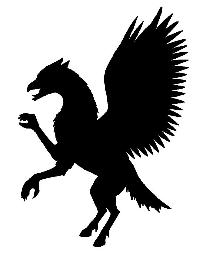 680x840 Hippogriff Silhouette By