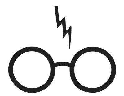 400x312 Harry Potter (Glasses Lightning) Design For Silhouette Studio