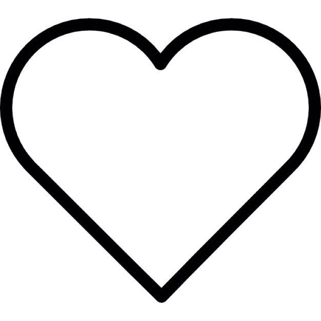 626x626 Heart Outline Icons Free Download