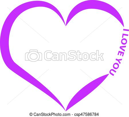450x409 Heart Silhouette With Text Isolated On White Background . Vector