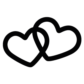 283x283 Hearts Silhouette Silhouette Of Hearts
