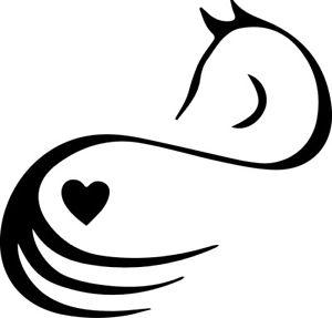 300x287 Horse Lover Equine Heart Silhouette Love Decor Decal Car Sticker