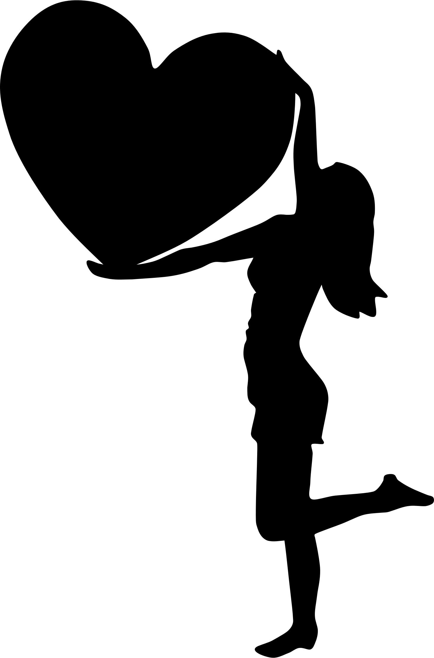 1468x2224 Woman With Big Heart Silhouette Icons Png