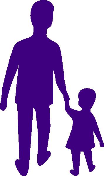 354x597 Purple Adult Child Holding Hands Clip Art