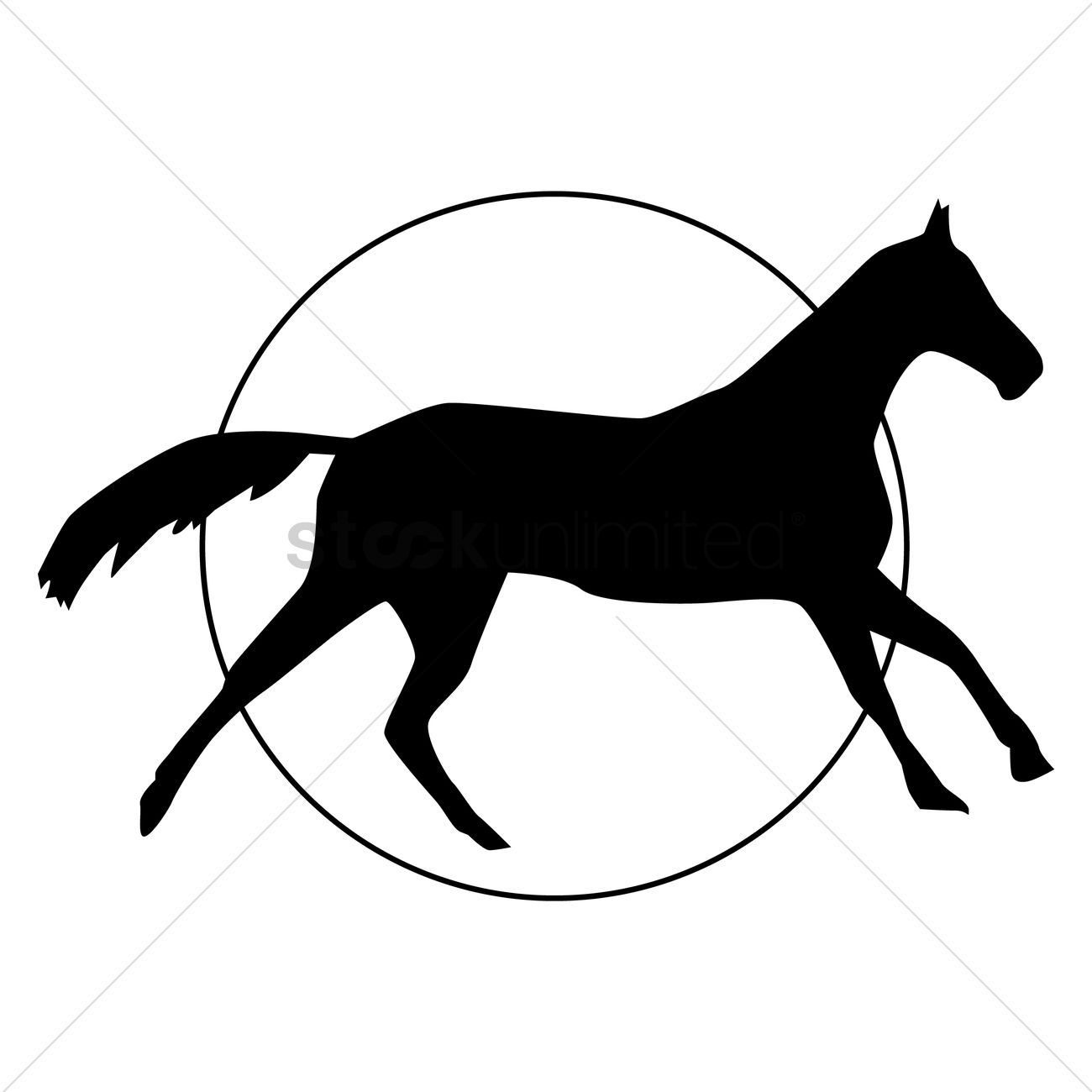 1300x1300 Silhouette Of Horse Vector Image