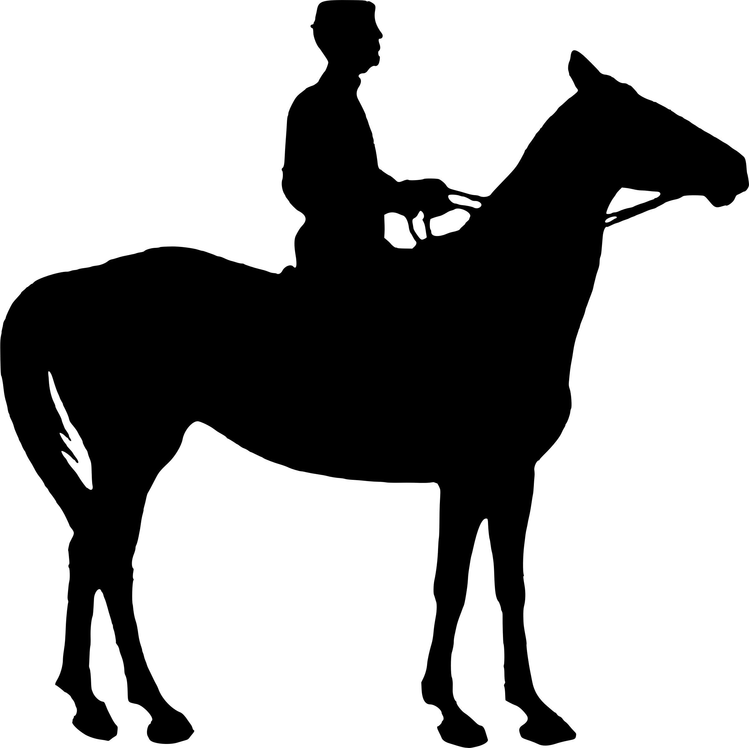 2399x2396 Girl And Horse Silhouette Icons Png