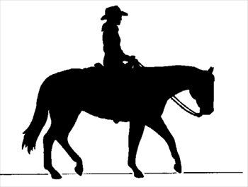 350x265 Cowboy On Horse Silhouette