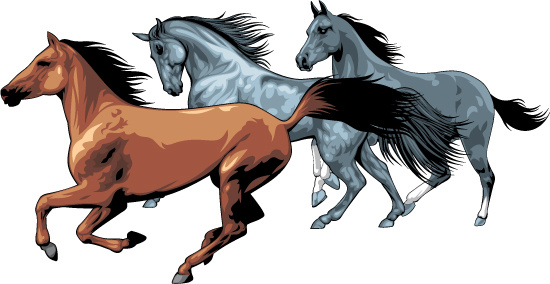550x284 Running Horse Silhouette Clip Art Free Free Vector Download