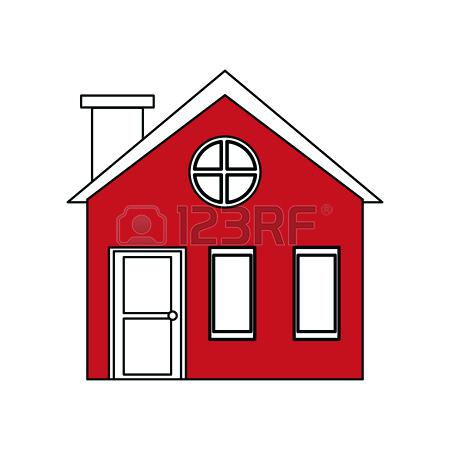 450x450 House Roof Silhouette Black House Silhouette Vector With Chimney