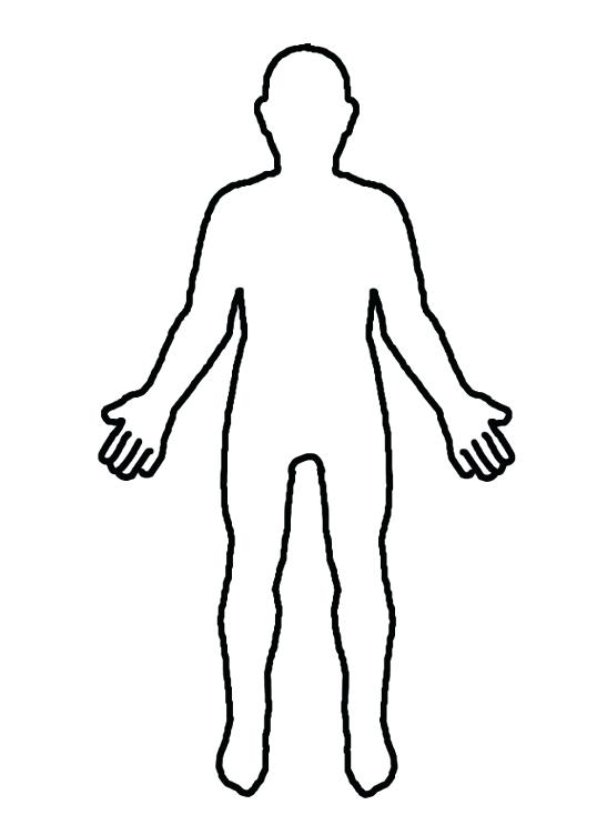 Silhouette Of Human Body