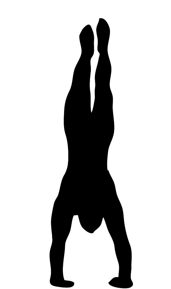 574x969 Handstand Silhouette Clipart Stams Amp Stencils Amp Masks