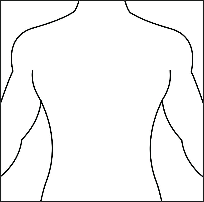 silhouette of human body at getdrawings com free for personal use rh getdrawings com body outline clipart black and white body outline clipart black and white