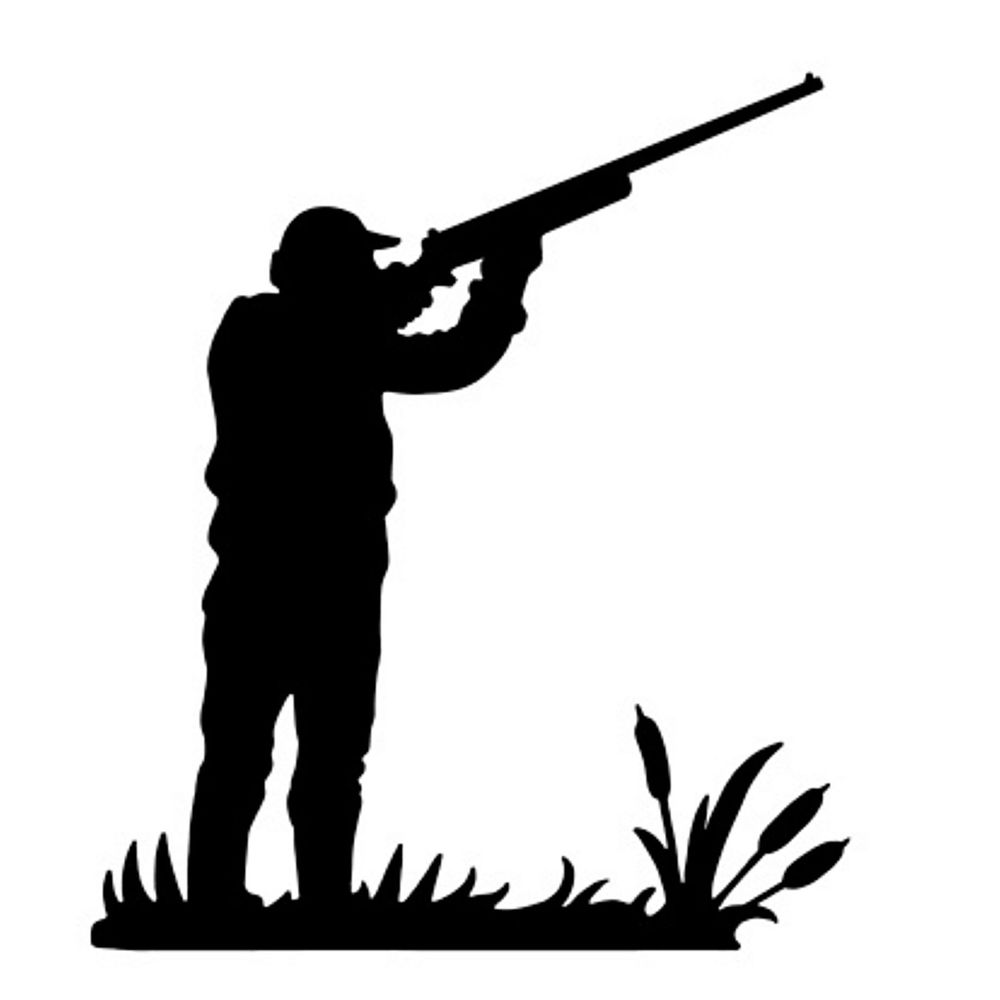1000x1000 Die Cut Silhouette Hunter Shooting Topper X 8 Card Making