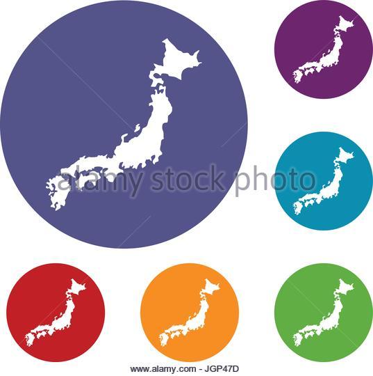 537x540 Map Japan Stock Photos Amp Map Japan Stock Images