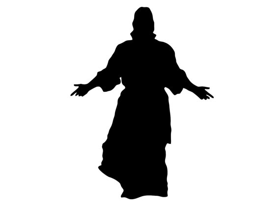 570x422 Jesus Decal. Jesus With Open Arms Sticker. Jesus Christ