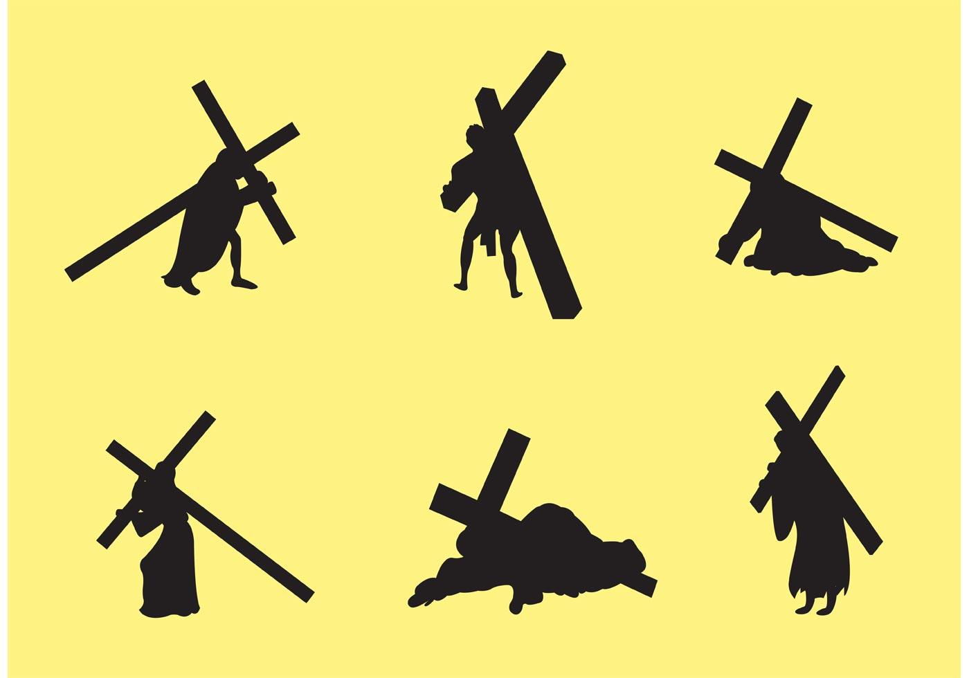 1400x980 Jesus Carrying The Cross Vectors