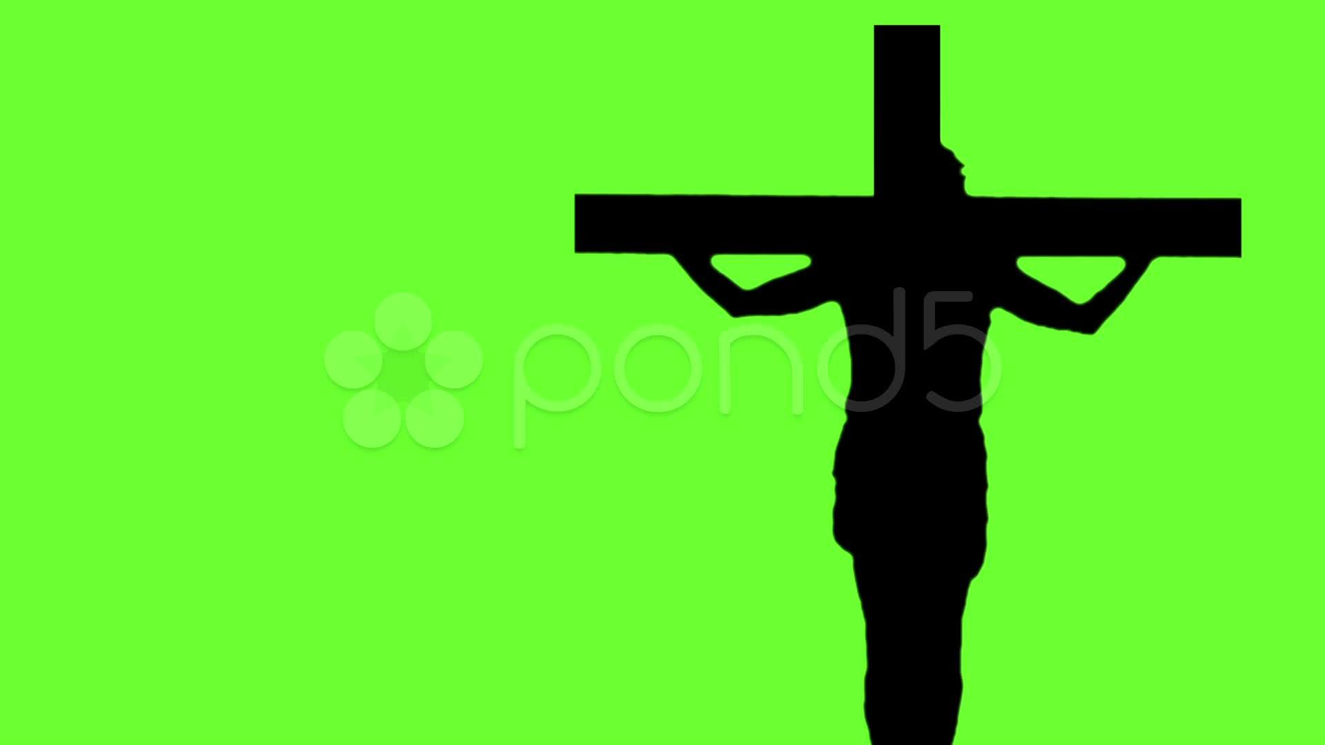 1920x1080 Jesus Cross Medium Green Screen ~ Stock Footage