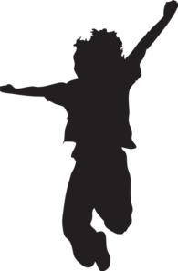 195x297 Jumping Child Silhouette Clip Art