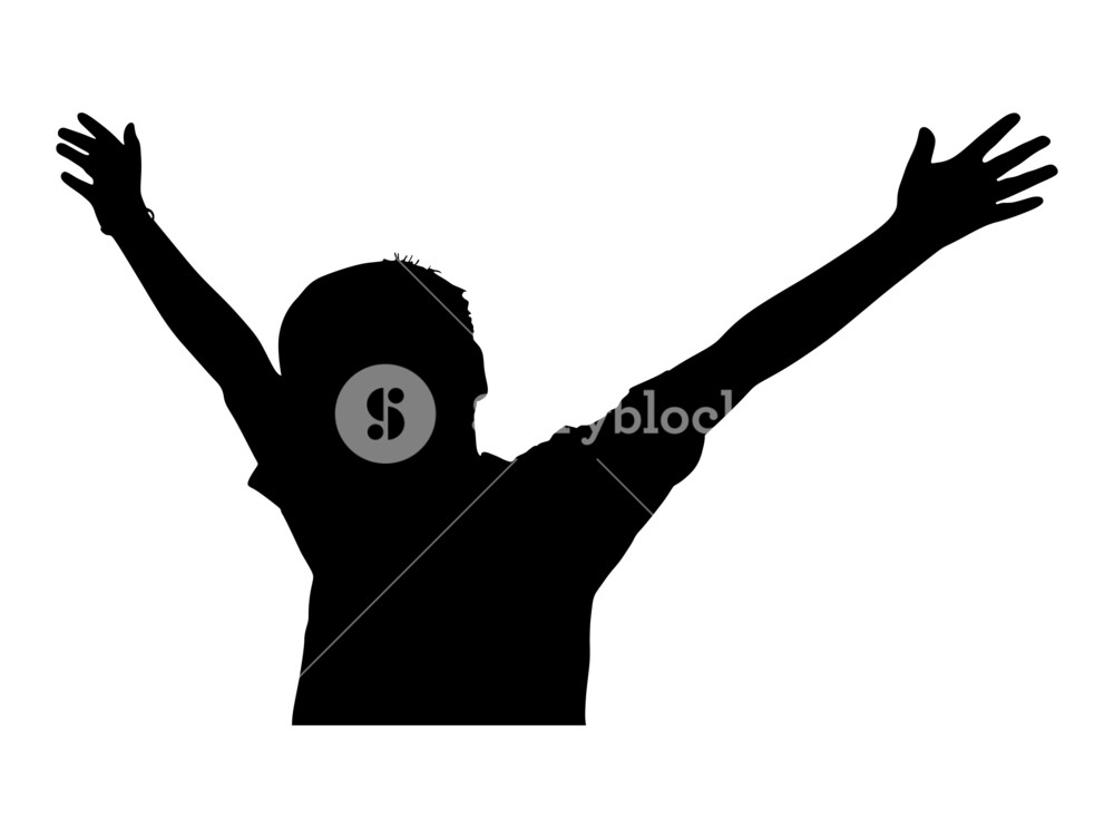 1000x752 Cheerful Kid Silhouette Royalty Free Stock Image